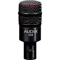 Audix D4 Hypercardioid Low-frequency Microphone for Kick Drum and Toms Product Image