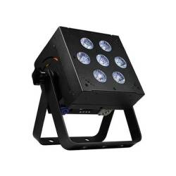 Blizzard SKYBOX W-DMX RGBAW+UV LED Rechargeable Battery Powered 2.4MHz Wireless DMX Wash Light -Black Product Image