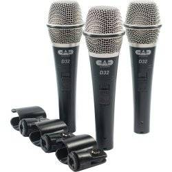 CAD Audio D32X3 CADLive D32 Supercardioid Dynamic Handheld Microphone (3 Pack) Product Image