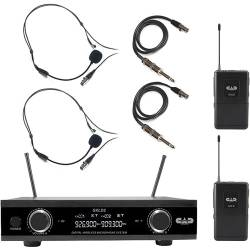 CAD Audio GXLD2BBAI Digital Dual-Channel Wireless Microphone System with Headset Mics and Bodypack Transmitters (AI: 909.3 to 926.8 MHz) Product Image