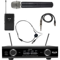 CAD Audio GXLD2HBAH Digital Dual-Channel Wireless Microphone System with Handheld and Bodypack Transmitters (AH: 902.9 to 915.5 MHz) Product Image