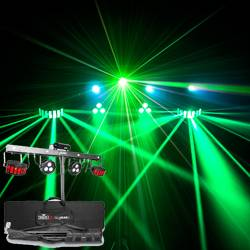 Chauvet DJ Gig Bar 2 Pack and Go 4-in-1 Lighting Package with 2 Wash Lights, 2 Derby Lights, a Laser, 4 Strobe Lights Product Image