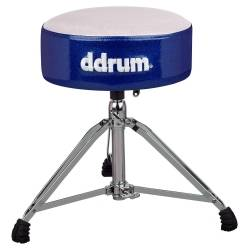 DDrum MFAT WB Mercury Fat Drum Throne-White and Blue Product Image