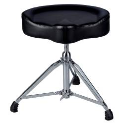 DDrum MSTT BLK Mercury Saddle Drum Throne-Black Top Product Image