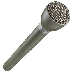 "Electro Voice 635L Beige 9.5"" Long Handle Omnidirectional Dynamic Broadcast Microphone  Product Image 1"