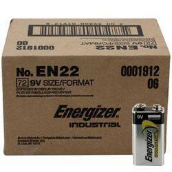 Energizer EN-22-72pack 9V Industrial Battery 72 pack Product Image