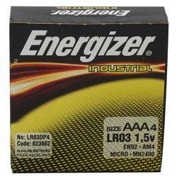 Energizer EN-92-4pack AAA Industrial Battery 4 Pack Product Image