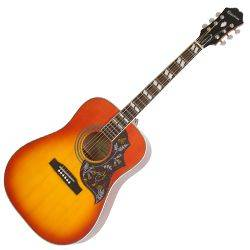 Epiphone EEHBFCNH Faded Cherry Burst Hummingbird Pro 6 String RH Acoustic Electric Product Image