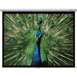 """Grandview GV-CMO084-4W CB-MIR 84 Integrated Cyber Motorized 84"""" Screen with White Casing 4:3 Format Product Image"""