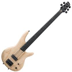 Ibanez GWB1005 NTF Gary Willis Signature 5 String RH Fretless Electric Bass with Case-Natural Flat Product Image