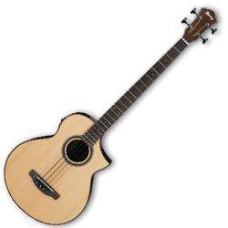 Ibanez AEWB20NT-d Natural High Gloss 4 String RH Acoustic Bass (Discontinued Clearance)  (Prior Year Model) Product Image