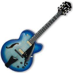 Ibanez AFC155-JBB-d2019  Contemporary Archtop Series 6 String RH Hollowbody Guitar in Jet Blue Burst with case Product Image