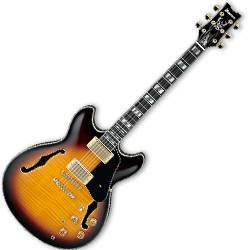 Ibanez JSM10-VYS John Scofield Signature Hollow Body Guitar in Vintage Yellow Sunburst Product Image
