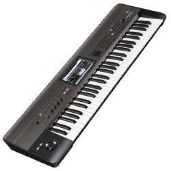 Korg Keyboards Krome61EX 61 Key Semi Weighted Keyboard Music Workstation  Synthesizer