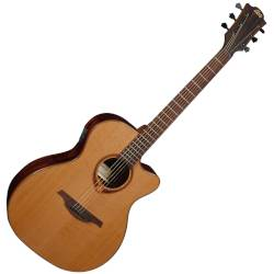 Lag T118ASCE Tramontane 118 Auditorium Slim Cutaway 6 String RH Acoustic-Electric - Natural Product Image
