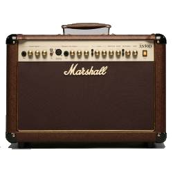Marshall AS50D -2 Channel 2x25watt - 2x8 Acoustic Guitar Combo Amplifier with Digital Effects in Brown marshall-a-s-50-d Product Image 1
