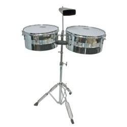 Mano MP1434 Percussion Timbale Set Chrome Product Image