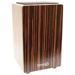 Mano MP CAJ 100 ES Ebony Stripes Cajon with Foam Seat Pad and gig bag mp-caj-100-es Product Image