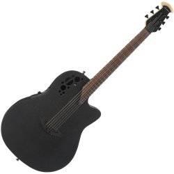 Ovation 1868TX-5 Black Pro Elite Super Shallow 6 String Acoustic RH Electric Guitar 1868-tx-5 Product Image