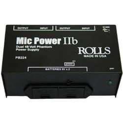 Rolls PB224 Mic Power IIb Dual Phantom Plus Mic Power Adapter Product Image