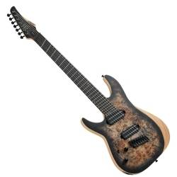 Schecter 1515-SHC Reaper-7 Multi-Scale LH 7-String Electric Guitar-Satin Charcoal Burst Product Image
