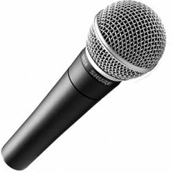 Shure SM58-LC Cardioid Dynamic Microphone (Cable Not Included) Product Image