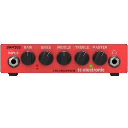 TC Electronic BAM200 Ultra-Compact 200 Watt Bass Head with Class-D Amp Technology  Product Image