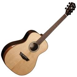 Washburn WCG700SWEK-D Comfort Series Grand Auditorium Cutaway RH 6-String Acoustic Electric Guitar-Natural Gloss Finish with Hard Case Product Image