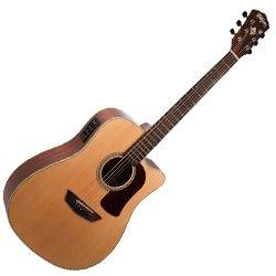 Washburn HD100SWCEK-D Heritage 100 Series 6 String RH Acoustic Electric Guitar with Hardshell Case Product Image