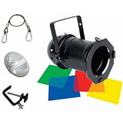 American DJ 56-BLACK-COMBO Par Can Lighting Kit in Black with Accessories Product Image