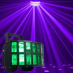 American DJ AGGRESSOR-HEX-LED Wash Light with 12W RGBCAW HEX LEDs Product Image
