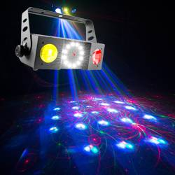 Chauvet DJ SWARM 4 FX Multi-Effects Light with Moonflowers, RG Laser, and White Strobe Product Image