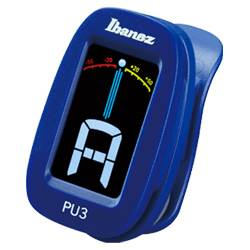 Ibanez PU3-BL Blue Clip on Chromatic Tuner with LCD display Product Image