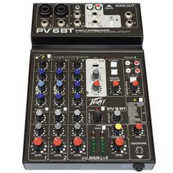 Peavey 03612590 PV 6 BT 6 Channel Mixer with Digital Effects and Bluetooth Product Image