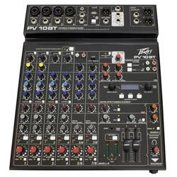 Peavey 03612790 PV 10 BT 10 Channel Mixer with Digital Effects and Bluetooth Product Image