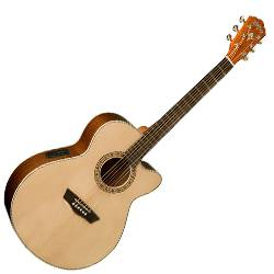 Washburn WG7SCE Harvest Series 6 String Acoustic Electric Guitar (discontinued clearance) Product Image