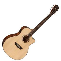 Washburn WLO10SCE Woodline 10 Series Orchestra Shape 6 String Acoustic Electric Guitar (discontinued clearance) Product Image