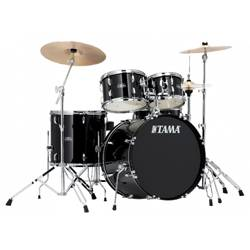 Tama SG52-KH 6 C BK STAGESTAR Complete Drum Kit with 16x22 Inch Bass Drum and Stagestar Cymbal Set in Black Product Image