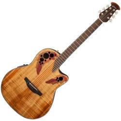 Ovation CE44P-FKOA Celebrity Elite Plus 6 String RH Acoustic Electric Guitar- Figured Koa ce-44-p-fkoa Product Image
