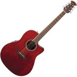 Ovation CS24-RR Celebrity Standard Mid-Depth Cutaway 6 String RH Acoustic Electric Guitar - Ruby Red cs-24-rr Product Image