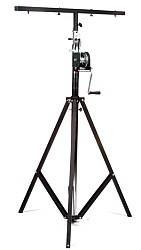 Global Truss ST-132 Medium Duty Crank Stage Light Stand with T Bar and leveling leg  Product Image