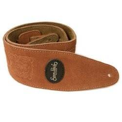 Simon & Patrick 037322 Rust Western Suede w/Patch Logo Guitar Strap Product Image